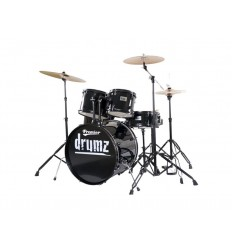 Premier DRUMZZZ Stage 22 BLK Wrap Rock Kit