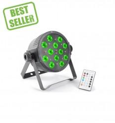 Beamz FlatPAR 12x3W Tri-color LEDs DMX IR