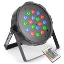 Beamz FlatPAR 18 x 1W RGB DMX IR