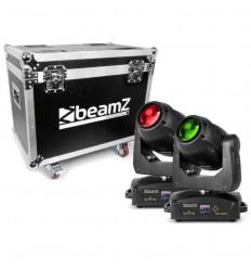 Beamz 2x IGNITE180B Beam LED Moving Head & Flightcase