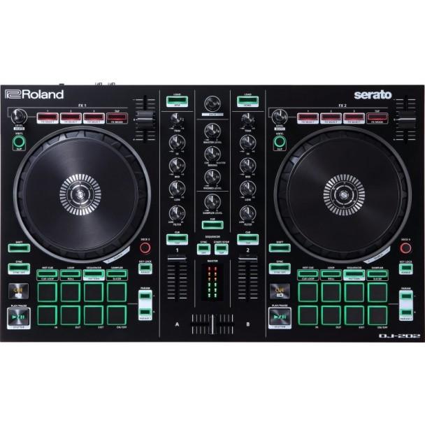 Roland DJ-202 + Serato DJ PRO