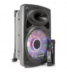 "Fenton FPS12 Portable Sound System 12"" BT/MP3/USB/SD/VHF/LED"