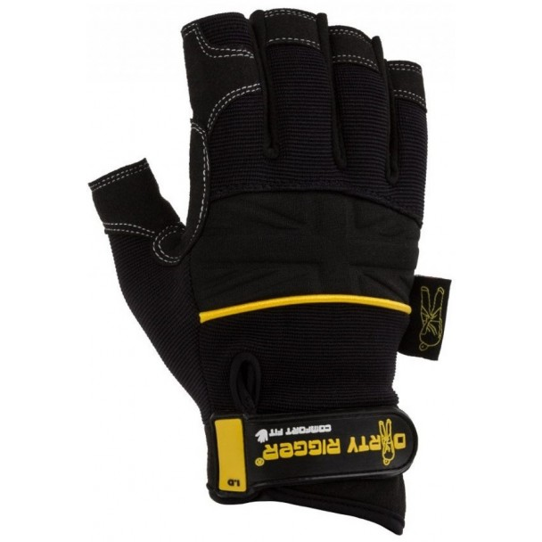 Dirty Rigger Comfort Fit Fingerless Rigger Glove (V1.6) XL