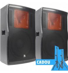2 x POWER DYNAMICS PD515A + Set Stative Vonyx Cadou