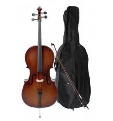 Classic Cantabile Student Cello 3/4 SET 9-13 ani/adult
