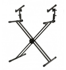 Classic Cantabile 2 Layer Double-X Keyboard Stand